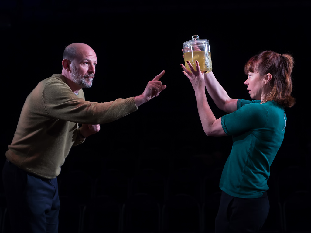 Paul Hickey and Amelia Lowdell in Incognito by Nick Payne