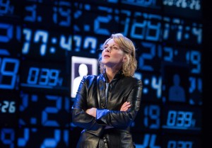 Lisa Dillon as Elizabeth Haploid at the Hampstead Theatre until 23rd January